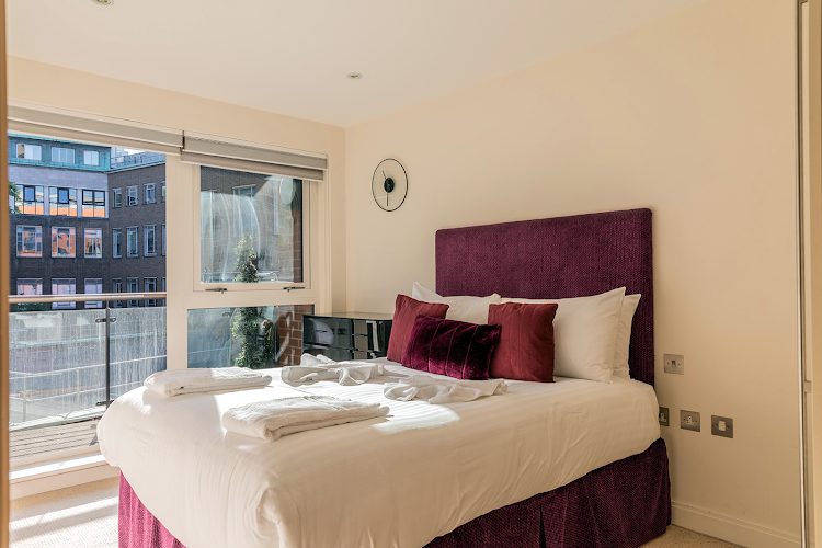 Bedroom at City of London apartment