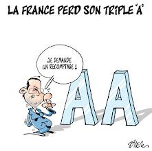Photo: 20 12 2012 - #Economie : La France perd son triple A.