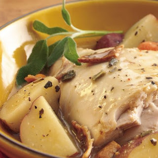 Slow-Cooker Turkey with Sage and Bacon Recipe