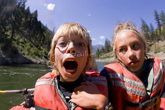 Photo: Brother and sister interacting while rafting on the Main Salmon River in central Idaho