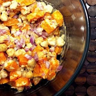 Warm Butternut and Chickpea Salad with Tahini Dressing.
