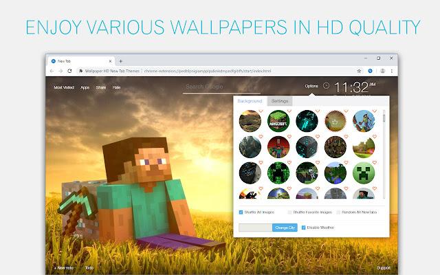 Creative Minecraft Wallpaper HD Custom NewTab