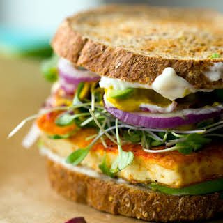 Vegan Lunch Sandwich with Sizzling Skillet Tofu.