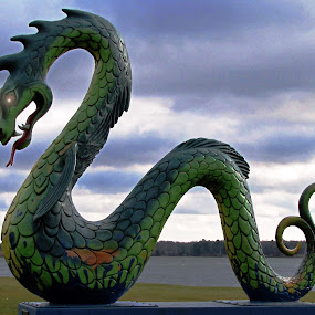 Guardian of Serpent Lake by Teresa Daines - Artistic Objects Other Objects ( mn, snake, serpent lake, dragon, lake,  )