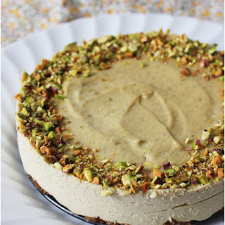 Vegan Pistachio Cheesecake.