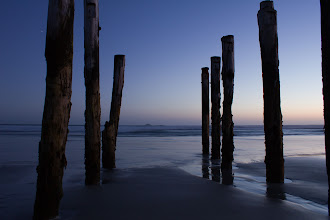 Photo: Sunset at the infamous St Clair poles