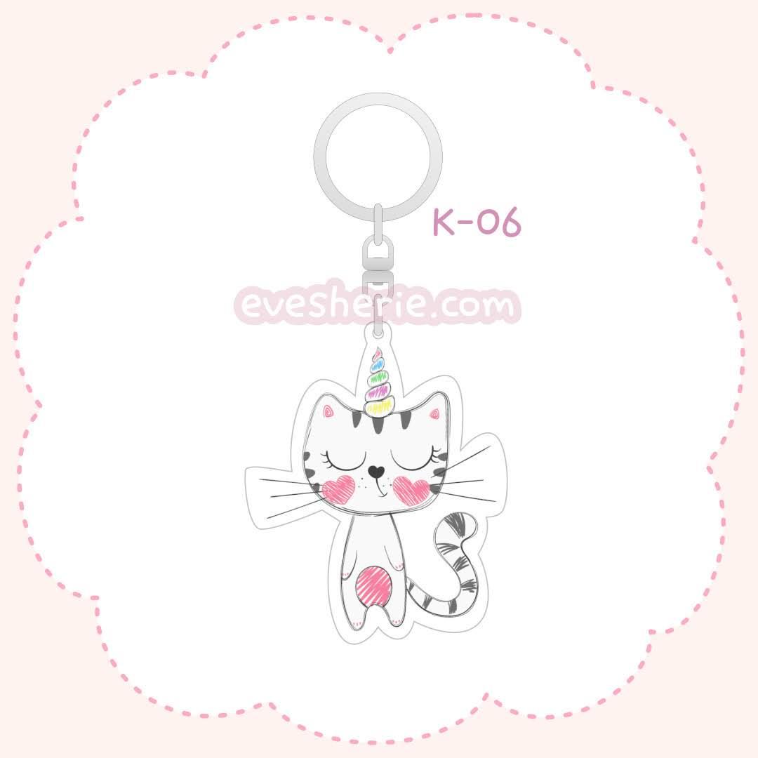 พวงกุญแจแมวยูนิคอร์นน่ารัก