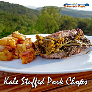Kale Stuffed Pork Chops