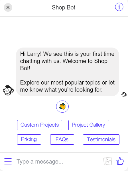Chat box example