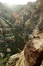 Photo: The view up canyon from the top of pitch 2.