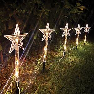 Instalatie 5 stele decorative pentru gradina