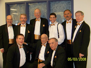 Photo: BACK: Wayne, John, Jim, Steve, Andy and Reg FRONT: Mark, Ernie, Reg