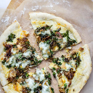 Leftover Pulled Pork Pizza with Kale Recipe