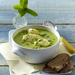 Pea Soup with Ricotta Dumplings