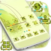 Green Birds Launcher Theme