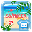 Summer beach skin for Next SMS icon