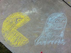 Photo: Pac Man Chalk