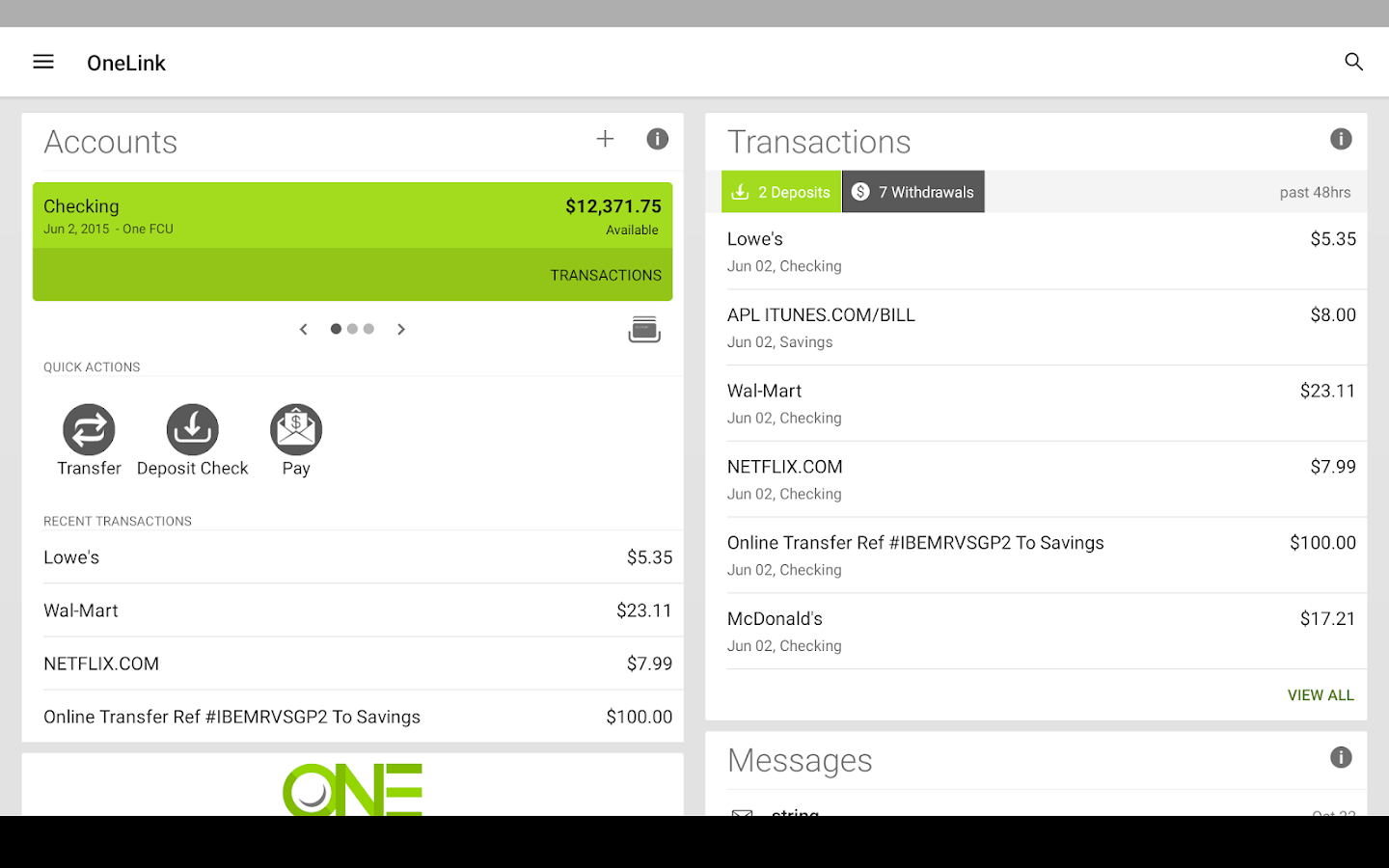 OneLink- screenshot