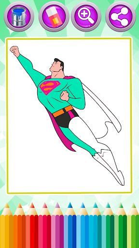 Superhero Coloring Book Games 1.3 screenshots 2