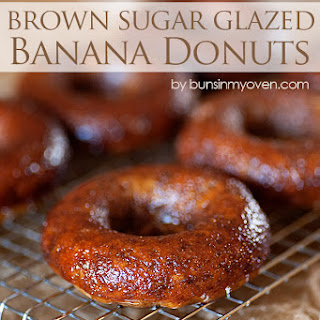 Banana Donuts with Brown Sugar Glaze