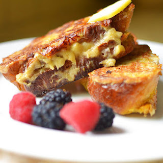 Banana Stuffed Challah French Toast