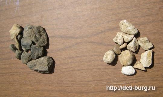 сортировка камушков