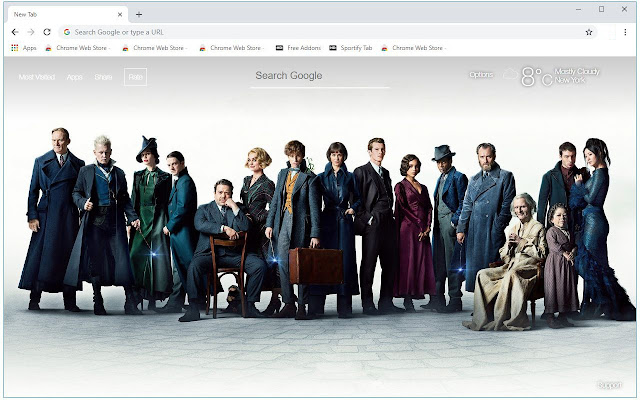 Fantastic Beasts 2 HD Wallpapers New Tab