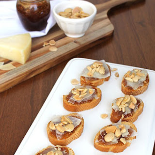 Manchego Cheese-and-Fig Crostini.