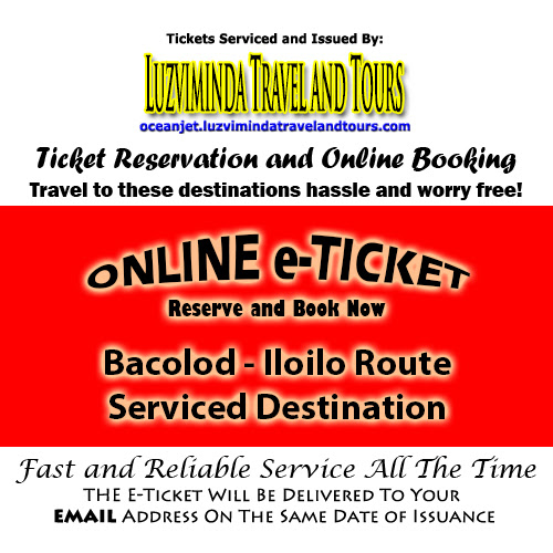 OceanJet Bacolod-Iloilo Ticket Reservation and Online Booking