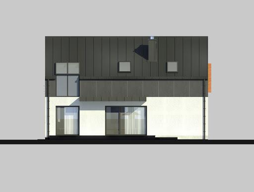 LIM House 03 - Elewacja tylna