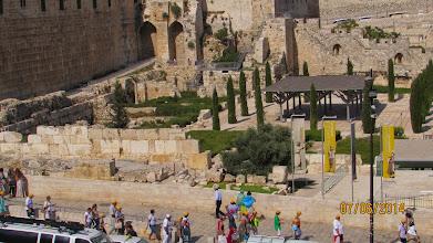 Photo: looking down on recent jewish excavations.