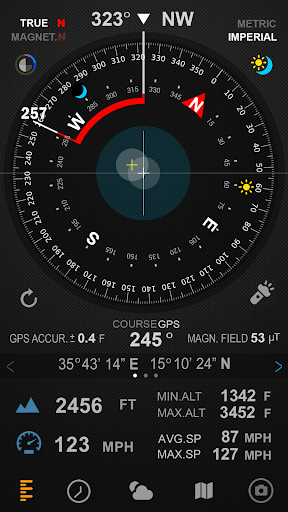Compass 54 (All-in-One GPS, Weather, Map, Camera) 1.4.7 screenshots 2