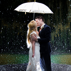 Raining by Lood Goosen (LWG Photo) - Wedding Bride & Groom ( wedding photography, wedding photographers, wedding day, weddings, wedding, wedding dress, bride and groom, wedding photographer, bride, groom, bride groom )