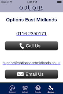 Options East Midlands- screenshot thumbnail