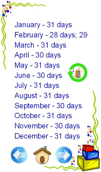 how to remember days in a month