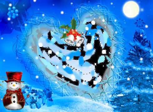 聖誕節和新年相框