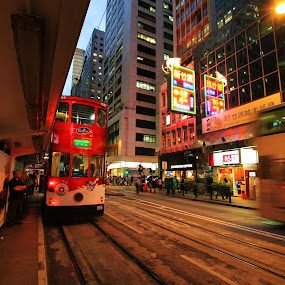 Hong Kong by William Cheng - City,  Street & Park  Street Scenes