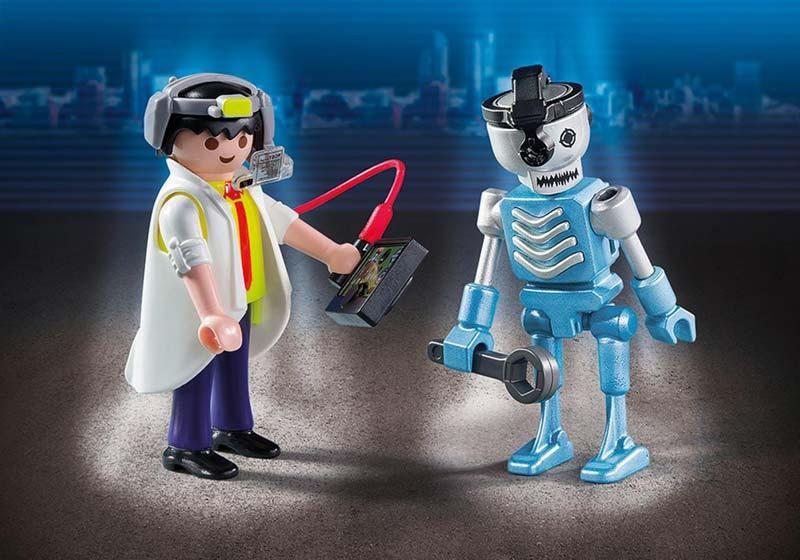 Contenido de Playmobil® 6844 Duo Pack Científico y Robot