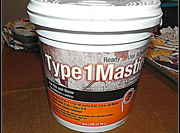 9/19/13----We bought this tile adhesive at Lowe's and it is called Type 1 Mastic....