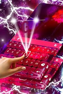 Květinová klávesnice Neon Téma - náhled