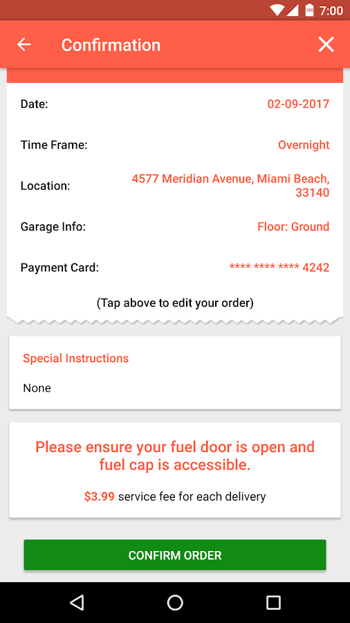 EzFill - Gas Delivery to Your Home or Office- screenshot