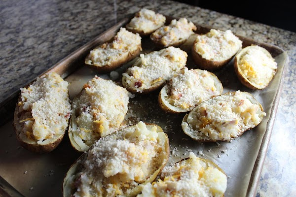 Sprinkle the tops with the Panko bread crumbs with the remainder of the butter...