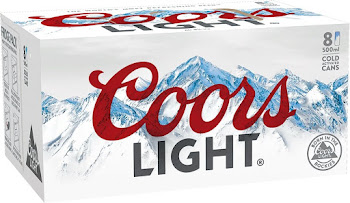 Coors Light Lager - 4000ml, 8 Cans