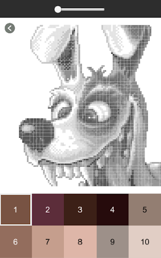 Dog Color By Number Pixel Art Dog Coloring Pages Apk By