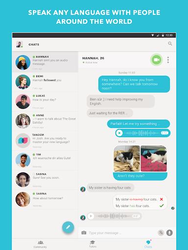 Tandem Language Exchange: Speak any language 1.7.7 screenshots 6