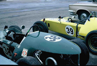Photo: October 1970 ; photo by Weldon Nash; Nash Scramblers No. 38 (original car) and No. 39 (3rd car built) in the pits at an SCCA National Race at TWS, College Station, TX .; This was the first time that both cars competed together.