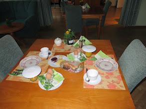 Photo: Breakfast wasn't till 8:00AM, so they put out some things for us for Tuesday morning whene we had to catch an early bus