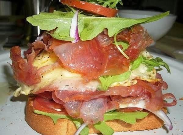 Open Faced Italian Breakfast Sandwich