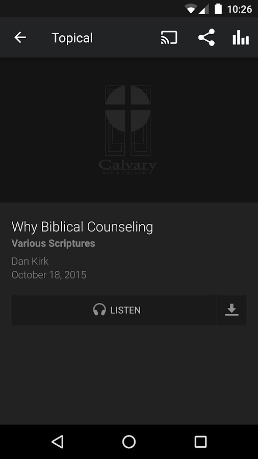 Calvary Bible Church- screenshot