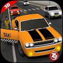 moderna da cidade de táxi 3D icon